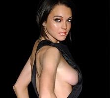 Lindsay Lohan's Nipple Slips Out!